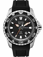 Bulova 98B209 Men's Marine Star Black Resin Band Automatic Sports Watch