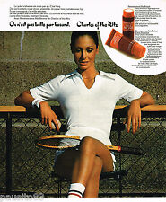 PUBLICITE ADVERTISING 055  1976  CHARLES OF THE RITZ  cremes solaires