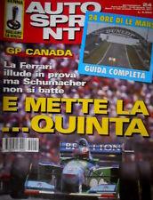 Autosprint 24 1994 La Ferrari illude in prova. Il caso Senna. Pedro Lamy  SC.55