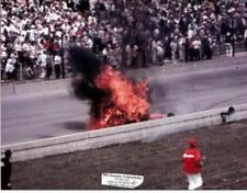 EDDIE SACHS DAVE MacDONALD 1964 INDY 500 8 X 10 FATAL FIRE PHOTO