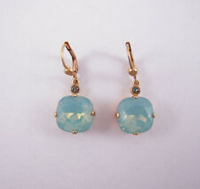Catherine Popesco 14K Gold Plated Large Pacific Opal Swarovski Crystals Earrings