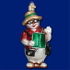 SOUTH POLE SNOWMAN OLD WORLD CHRISTMAS GLASS VACATION THEME ORNAMENT NWT 24148