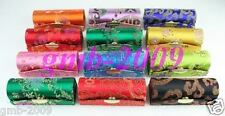 WHOLESALE 10PCS Lady's CHINESE STYLE PATTERN HANDMADE SILK LIPSTICK CASES BOXES