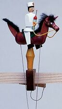 Wolfgang Werner German Wooden Toy - Pendelreiter Pendulum - Nurse on Brown Horse