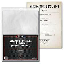 25 loose BCW Sheet Music Bags with flap Holder Storage Protection