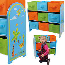 SHELF RACK WITH ORDER FAN GIRAFFE Kids' furniture Children's shelf Toy box Wood