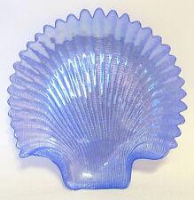 Iridescent Blue Sea Shell Plate Sculptured