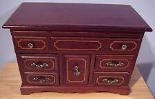 VINTAGE Ladies Men's  DRESSER STYLE WOOD JEWELRY BOX MUSIC BOX
