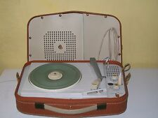 Lovely Vintage PHILIPS PORTABLE RECORD PLAYER NG-2411 Fully serviced