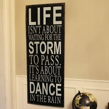 Dance in the rain métal plaque murale signe suspension couloir maison vintage