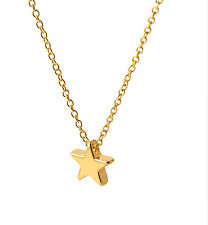 Minimalist  Star Gold Plated Women Jewellery  Pendants Necklace.