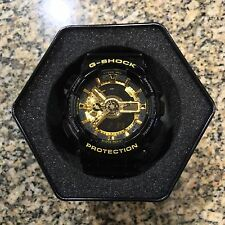 New Casio G Shock GA-110GB Shiny Black/Gold Watch