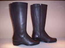 Stivali alti al ginocchio Flexell donna boots women zeppa pelle marroni zip 36