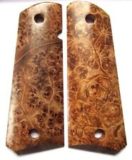 Colt 1911 Pistol Grips Full Size Government Smooth Maple Burl Custom