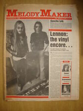 MELODY MAKER 1980 DEC 20 JOHN LENNON QUEEN WHITESNAKE