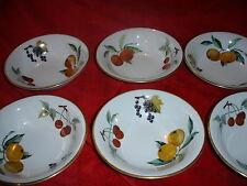 ROYAL WORCESTER EVESHAM GOLD 1 SET OF 6 BOWLS  FOR DESSERTS. CEREALS ETC