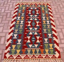 Multi Color Turkish Hand Woven Kilim Rug Oushak Antolian Rug Natural Wool Carpet