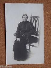 R&L Postcard: Edwardian Lady/Woman Portrait Black Dress/Skirt Fashion