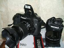 Canon EOS 50D 15.1 MP appareil photo reflex numérique-avec 3 objectifs 18-55mm lentille)