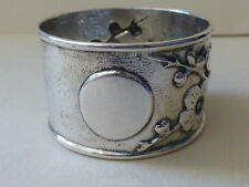 Late 19th Century Chinese Export Silver Napkin Ring by C.J. & Co.