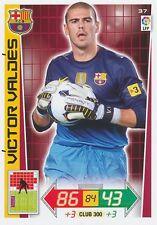 N°037 VICTOR VALDES # ESPANA  FC.BARCELONA CARD PANINI ADRENALYN LIGA 2013