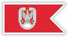 A.F. Sticker Flag of Poland Aviation Forces for Car Truck Skateboard Motorcycle