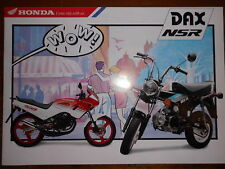 Sales Brochure Original Prospekt Honda DAX NSR  Technische Daten Moped