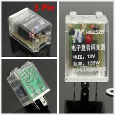 12V 135W 3Pin Car Electronic LED Light Flasher Relay Fix For Turn Signal Blinker