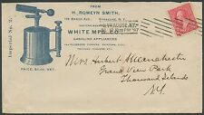 1897 BLUE ILLUSTRATED ADVT WHITE M.F.G. Co. H. ROMEYN SMITH COVER BS1724
