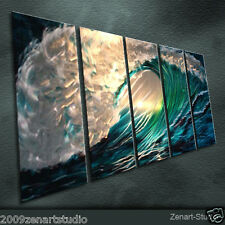 Modern Original Metal Wall Art Abstract Large Indoor Outdoor Decor by Zenart