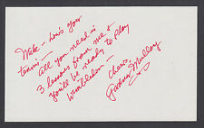 Gardnar Mulloy, American Champion Tennis Player, signed & inscribed 3x5 card