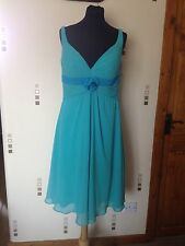 Floaty Turquoise Dress Size 14 Lace Up