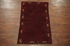 $1 NR Afghan 3X6 Tribal Area Rug Hand-Knotted Wool Oriental Carpet (3.6 x 6.2)