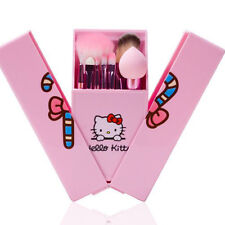 8Pcs Cute Hello Kitty Makeup Brushes Set Pink Kids Cosmetic blending with box