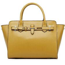 """Thompson Luxury Bags """"Carrie"""" echt Leder, Senf-Gelb, Tasche Handtasche UVP 249 €"""