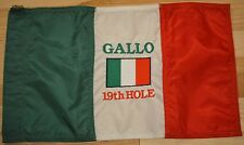 ITALIAN GOLF FLAG - EMBROIDERED WITH ITALIAN FLAG & PERSONALIZED NAME