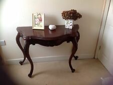 French Style Mahogany Ornate Carved Console Display Table Dressing table