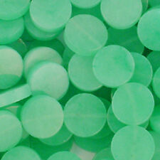 AVENTURINE GREEN 15MM COIN GEMSTONE BEADS    A+ NATURAL