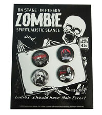 ROB ZOMBIE - Set of Four Buttons / Pins / Badges