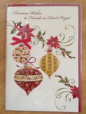Friends Couple Christmas New Year Greeting Note LARGE Card *NEW* (C65)