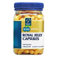 ROYAL JELLY New Zealand Queen Bee Manuka Royal Jelly 1000mg 180 Capsules