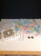 Vintage 1970 Wilton Cake Decorating Tips With Case And Decorating Supplies