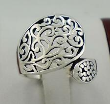 UNIQUE .925 STERLING SILVER FILIGREE SPOON RING size 9  style# r1822