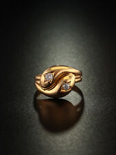 VICTORIAN DIAMOND DOUBLE HEAD SNAKE LOVERS RING