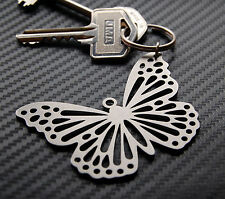 BUTTERFLY lrge Lepidopterist Keyring Keychain Key Bespoke Stainless Steel Gift