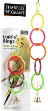 Bird Cage Toy,  Link 'a' Rings Bell Toy,  Budgie, Parakeet, Cockatiel etc