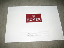 Rover 200/800/Mini/Montego diversidad folleto brochure de 1990
