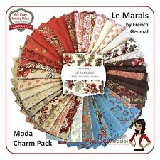 Le Marais Moda Fabric Charm Pack Squares French provincial vintage civil war