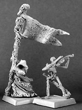 Reaper Miniatures UNDEAD STANDARD BEARER AND MUSICIAN (2) Warlord 14291