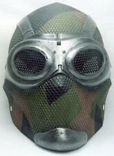 "Army of Two ""Thane 3"" Woodland Camo Custom Fiberglass Paintball / Airsoft Mask"